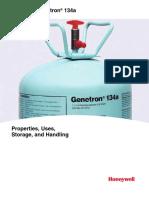 Honeywell Genetron 134a Technical Specs