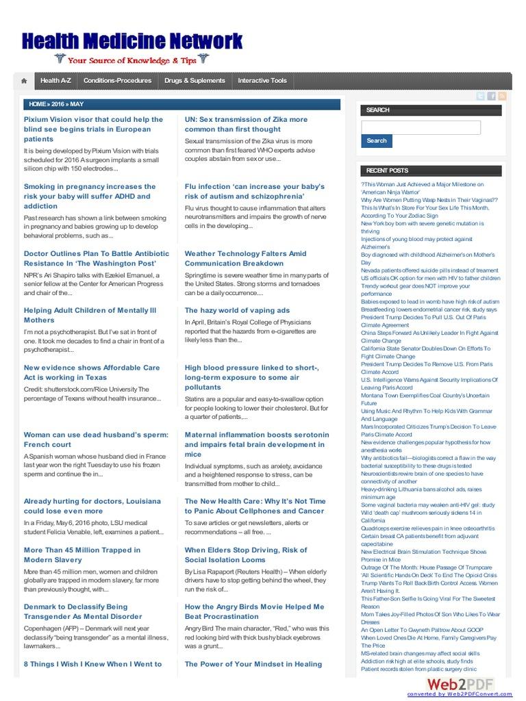 Healthmedicinet i 2016 5 | Zika Fever | Cancer
