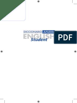 Diccionario Anaya English Student English-Spanish Español ... on