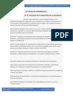 Actividad de aprendizaje 1. Foro de discusión El proceso de planeación en la docencia.docx