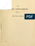 The Greek Testament Vol 1