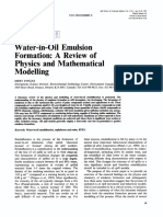 1995-Water-In-oil Emulsion Formation a Review of Physics and Mathematical Modelling. Merv Fingas.
