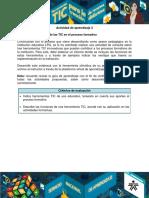 AA2 Evidencia Percepcion de Las TIC en El Proceso Formativo
