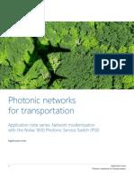 Nokia Photonic Networks Transportation en Application Note