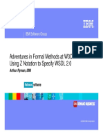 Ryman Adventures in Formal Methods at W3C - Using Z Notation to Specify WSDL 2.0