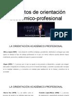 """Conceptos de """"Orietnacion academico profesional"""""""