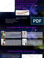 Gravamenes de Los Titulos Valores, Restitucion y