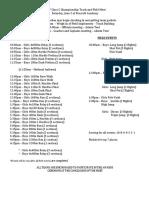 Class C Time Schedule
