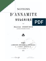 (1889) Notions d'Annamite Vulgaire - Maxime Crémieux