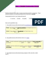 Parallel Construction Errors