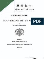 (1922) Đại Nam Lịch Đại Ký Niên