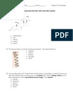 Macromolecules PRACTICE Test 2012 2013