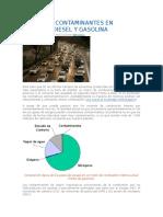 Emisiones Contaminantes en Motores Diesel y Gasolina