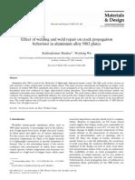 Effect of Welding and Weld Repair on Crack Propagation Behavior