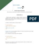 Estructuras de Decisión Condicional Si