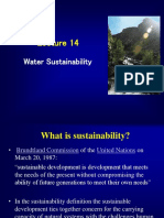 Lecture 12 Water Sustainability
