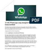 11 Trik WhatsApp Yang Mungkin Belum Banyak Diketahui