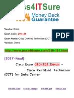 New Pass4itsure Cisco 010-151 Dumps PDF - Cisco Certified Technician (CCT) for Data Center