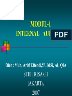 Modul 1 Internalauditing the Nature of Internal Auditing PDF