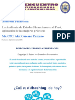 Auditoría de EEFF en El Perú, Aplicaciones y Buenas Prácticas (Congreso ULADECH)
