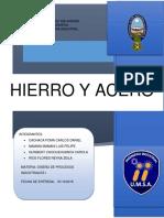 Informe Hieroo y Acero
