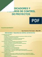 Indicadores de TABLEROS de Control Proyectos