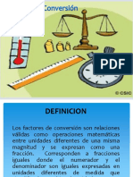 Factores de Conversion