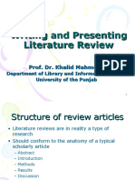 6-Writing and Presenting Literature Review-Khalid