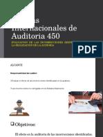 Normas Internacionales de Auditoria 450