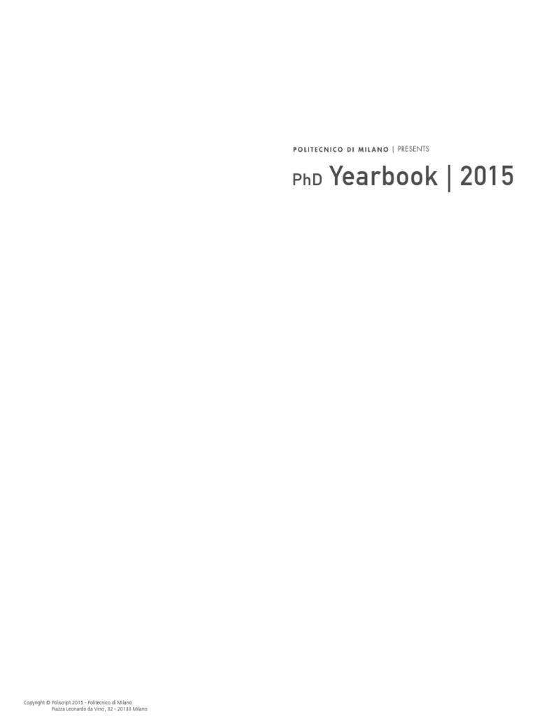 Annuario 2015 Bassa Doctoral Degrees