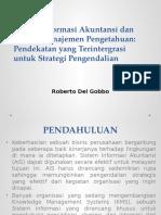 Sistem Informasi Akuntansi Dan Sistem Manajemen Pengetahuan