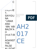 A Defence Of Holy Prophet, Saiyiduna Umar, Saiyiduna Hatib , Imam Muslim and Sahih Muslim against the False Allegations of Engineer Ali Mirza of Jhelum [Complete]