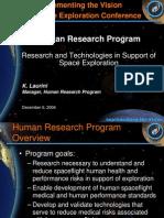 NASA 164300main 2nd exp conf 35 AdvancedHuman%26RoboticTechnology HumanResearch KLaurini