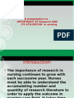 utilisation of research findings