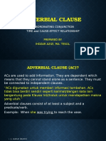 Adverbial Clause and Modal