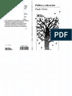 Freire, Paulo - Politica y educación.pdf