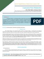 IAETSD JARAS Construction Waste Minimization