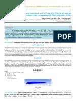 IAETSD-JARAS-Comparative Performance Analysis of NACA, NREL, EPPLER Airfoils for Wind Turbine Using Computational Fluid Dynamics (CFD)