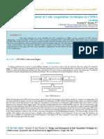 IAETSD-JARAS-Design and Development of Code Acquisition Technique in CDMA System