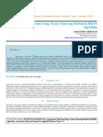 IAETSD-JARAS-Lung Cancer Detection Using Fuzzy Clustering Method & HKNN Algorithm