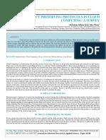 Iaetsd-jaras-privacy Preserving Protocols in Cloud Computing a Survey