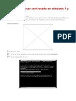Restablecer Contraseña en Windows 7 y 8