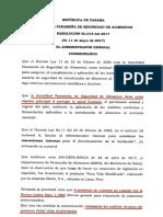 Resolución N°015-2017
