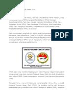 Cara Pendaftaran CPNS Online 2016