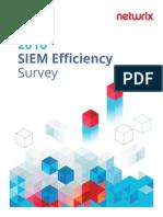2016 SIEM Efficiency Survey