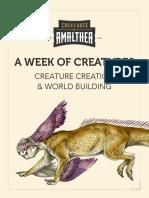 Week of Creatures