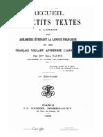 (1898) Recueil de Petits Textes a l'Usage Des Annamites