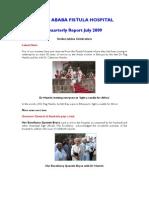 July 2009 Newsletter Hamlin Fistula UK