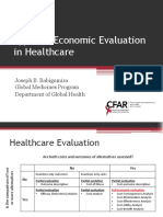Types of Economic Evaluation in Healthcare 1