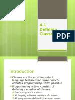 4.1-Defining Class (Part i)